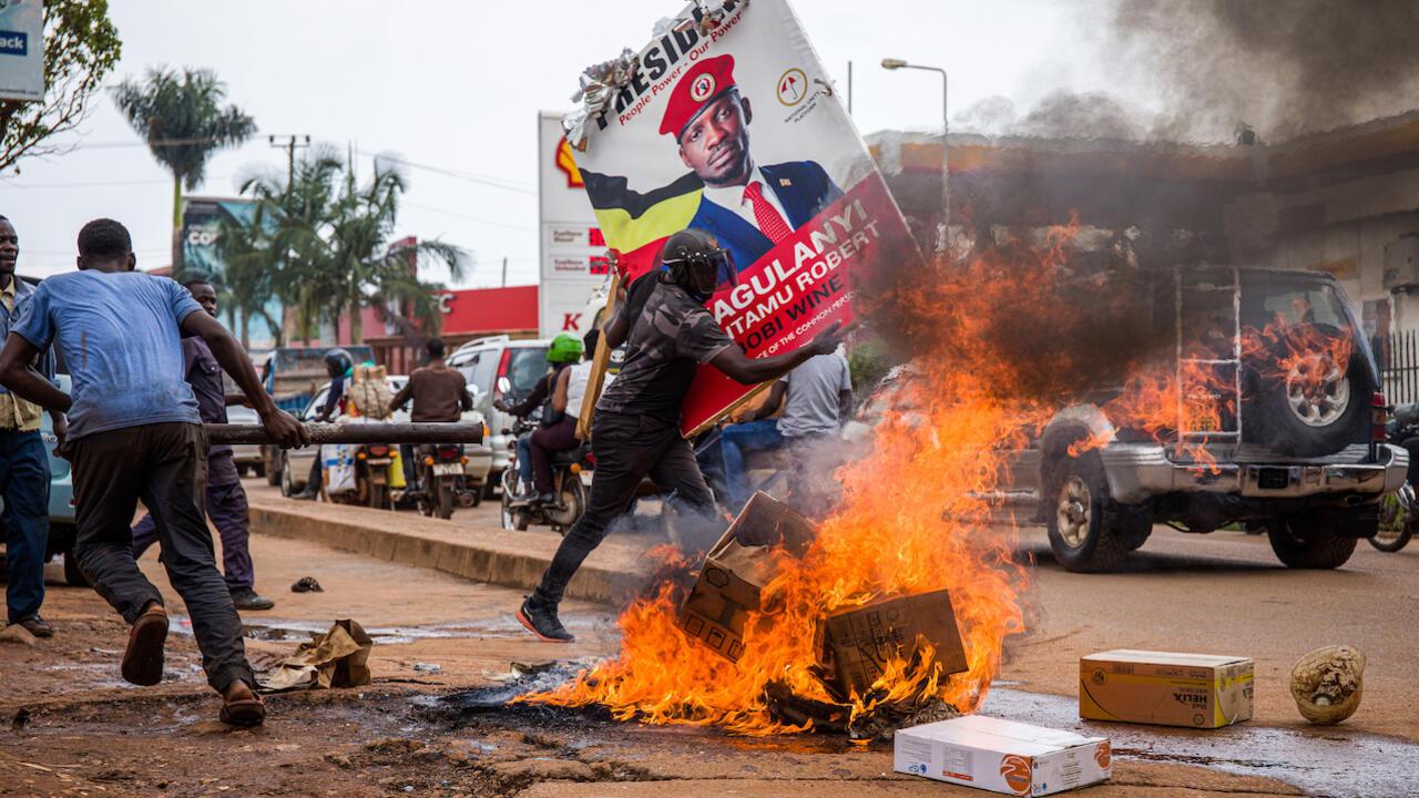 Violent clashes over arrest of Ugandan opposition leader leave dozens dead