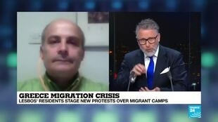 "2020-02-27 22:13 Apostolos Veizis on France 24: ""More than 42,000 lives are living in a space for 6,178 people"""