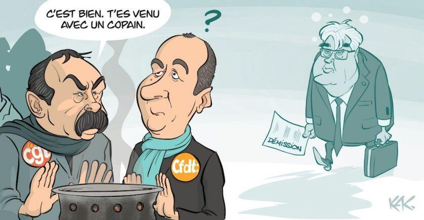 Dessin de Kak, paru le 17 décembre 2019, dans l'Opinion.fr