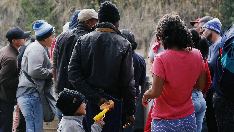 Migrantes venezolanos en un campamento improvisado cerca de una estación de autobuses en Quito, Ecuador, el 4 de septiembre de 2018.