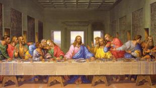 La Cène, le dernier repas du Christ, peinte par Léonard de Vinci entre 1495 et 1498.