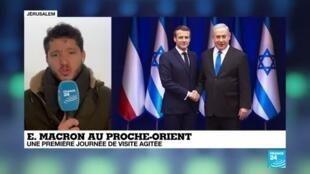 """2020-01-23 07:03 E. Macron à Jérusalem : Le président traverse toute la ville pour un """"grand chelem"""" des religions"""