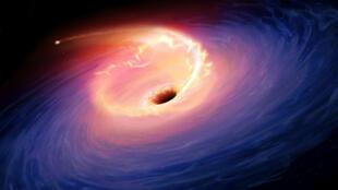 Ilustración de las ondas gravitacionales.