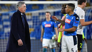 Carlo Ancelotti (left) and Allan (right)have been reunited at Everton