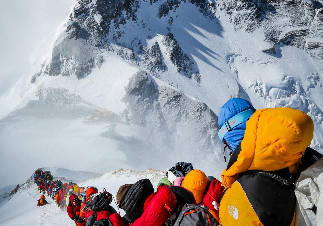 Les embouteillages sur l'Everest, mai 2019.