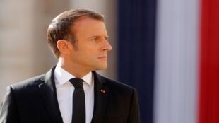 الرئيس الفرنسي إيمانويل ماكرون باريس ، 30 سبتمبر/ أيلول 2019