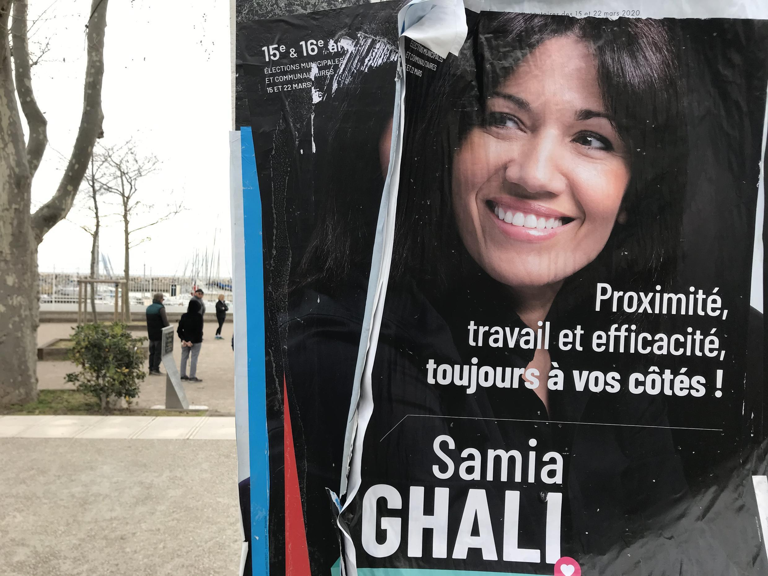 A poster for Senator Samia Ghali, who has refused to join other left-wingers in a common platform.