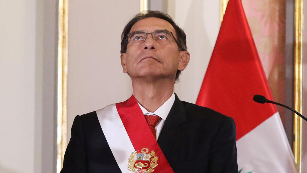 El presidente de Perú, Martín Vizcarra, asiste a una ceremonia de toma de posesión en el palacio de gobierno en Lima, Perú, el 7 de junio de 2018.