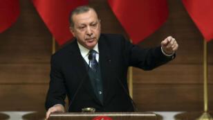 Le président turc Recep Tayyip Erdogan, lors d'un discours prononcé le 21 décembre, à Ankara.