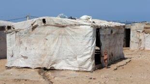 مخيم للنازحين السوريين في العريضة شمال لبنان