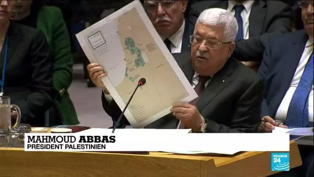 2020-02-12 10:12 Plan de paix au Proche-Orient : Mahmoud Abbas rejette la proposition de Trump devant les Nations Unies
