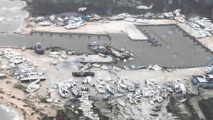 Vista aérea de la destrucción en un puerto de embarcaciones de recreo en las Bahamas después del paso del huracán Dorian el pasado 2 de septiembre.
