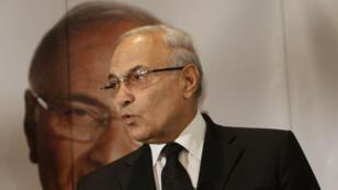 Ahmed Chafik lors d'une conférence de presse au Caire, le 3 juin 2012.