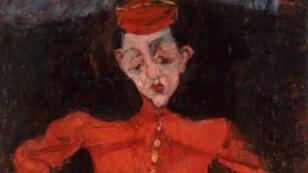 """""""Le Groom"""", huile sur toile peinte par Chaïm Soutine en 1925, détenue par le Centre Pompidou à Paris."""