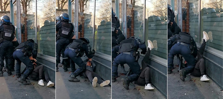 Police violence France protest