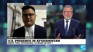 """2021-04-14 21:06 U.S. presence in Afghanistan: """"The US has negotiated a withdrawal agreement and not a peace agreement"""""""