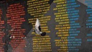 Nombres de personas que han sido masacradas en la ciudad de Cali, Colombia. 13 de noviembre de 2020.