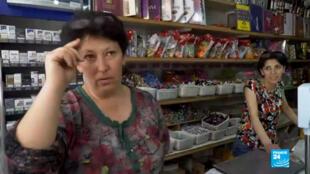 Des commerçantes du villages de Shnogh, dans le nord de l'Arménie.