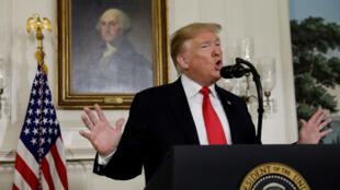 El presidente de Estados Unidos, Donald Trump, en la Sala Diplomática de la Casa Blanca en Washington el 19 de enero de 2019.