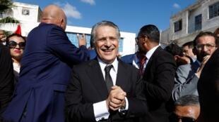 المرشح للانتخابات الرئاسية في تونس نبيل القروي. بنزرت 11 أكتوبر/تشرين الأول 2019.