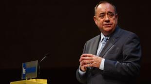 Le Premier ministre écossais Alex Salmond lors d'une allocution le 17 septembre.
