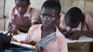 Des écoliers à Kwamang, au Ghana.