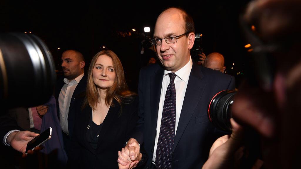 Le candidat de Ukip Mark Reckless et son épouse à Rochester.