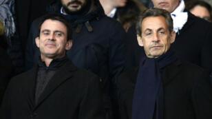 Manuel Valls et Nicolas Sarkozy se sont livrés à un match à distance, répliquant coup pour coup lors de meetings dans l'Essonne lundi 16 mars.