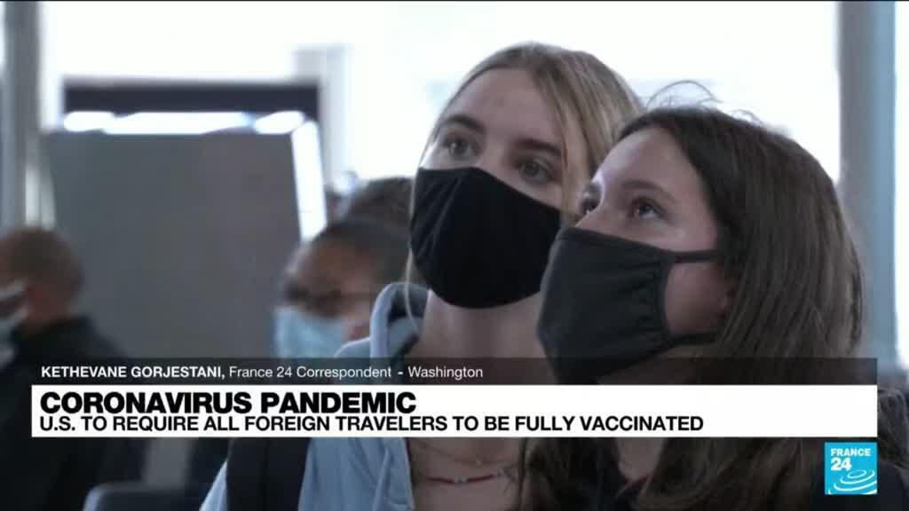 2021-09-20 17:01 US to end travel bans for vaccinated passengers 'early November'
