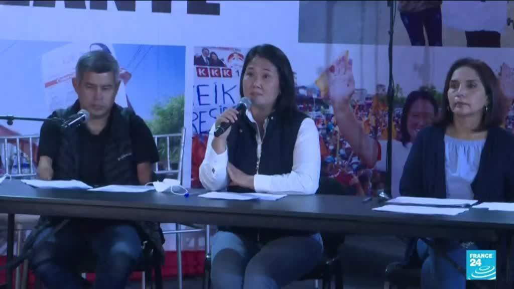 2021-06-08 10:06 Keiko Fujimori alleges fraud in tight Peru election