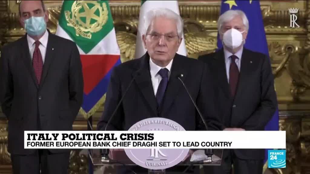 2021-02-03 08:13 Mario Draghi, eurozone saviour, now called to Italy's side