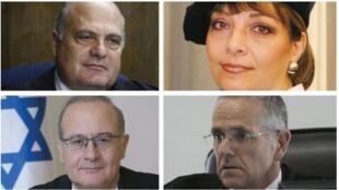 Les juges de la Cour suprême George Karra, Yael Wilner, David Mintz et Yosef Elron.