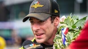 Le Français Simon Pagenaud vainqueur des 500 mille d'Indianapolis le 26 mai 2019