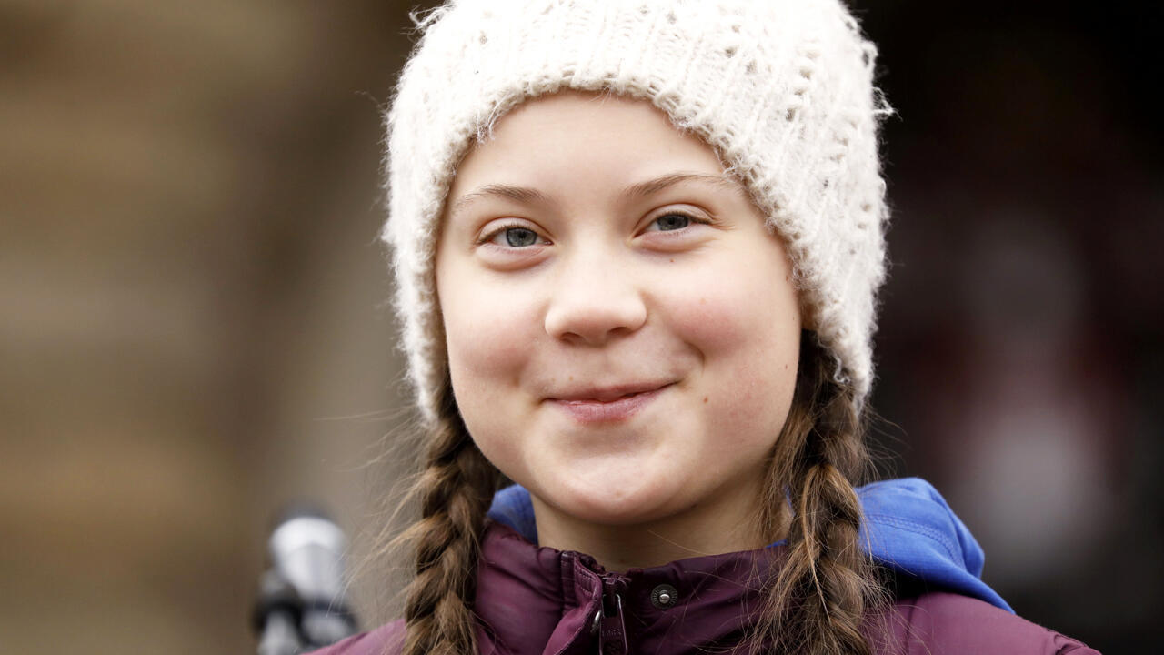 La militante por el clima Greta Thunberg, de 16 años, participa en una protesta para pedir medidas urgentes contra el cambio climático, en Hamburgo, Alemania el 1 de Marzo de 2019.