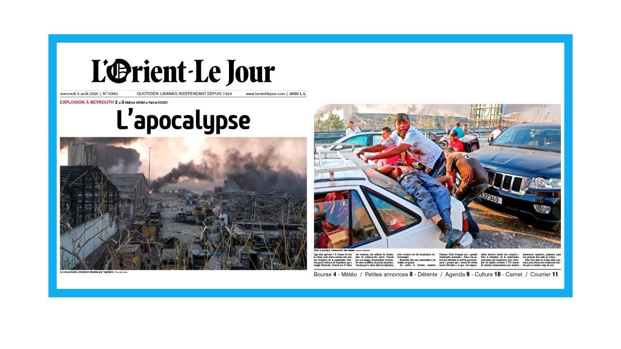 Scènes d'apocalypse à Beyrouth, la capitale du Liban