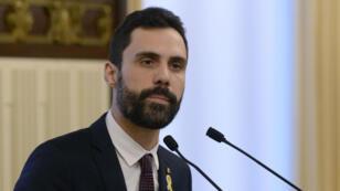 Le président du parlement catalan Roger Torrent, mardi 30 janvier 2017.