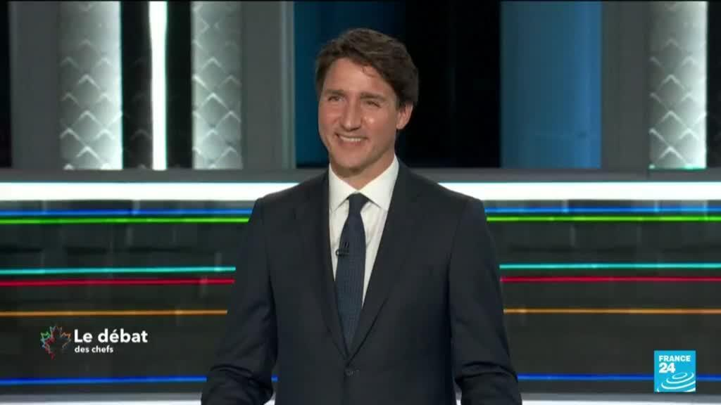 2021-09-09 12:08 Trudeau criticized at debate for calling Canadian election