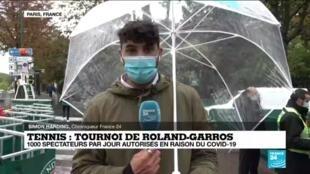 """2020-09-27 11:01 Roland-Garros : """"Une situation inédite, dans le froid et avec peu de public"""""""