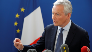 El ministro de Economía francés, Bruno Le Maire, durante una conferencia de prensa en París, Francia. 27 de julio de 2019.