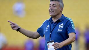 El entrendor del Flamengo, el español Domenec Torrent se contagió el coronavirus