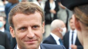Emmanuel Macron après le défilé du 14 juillet 2020