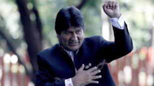 El presidente de Bolivia, Evo Morales, durante la posesión de Andrés Manuel López Obrador en Ciudad de México. 1 de diciembre de 2018.
