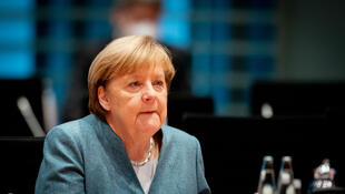 German Chancellor Angela Merkel leads the weekly cabinet meeting on November 4, 2020, at the Chancellery in Berlin.