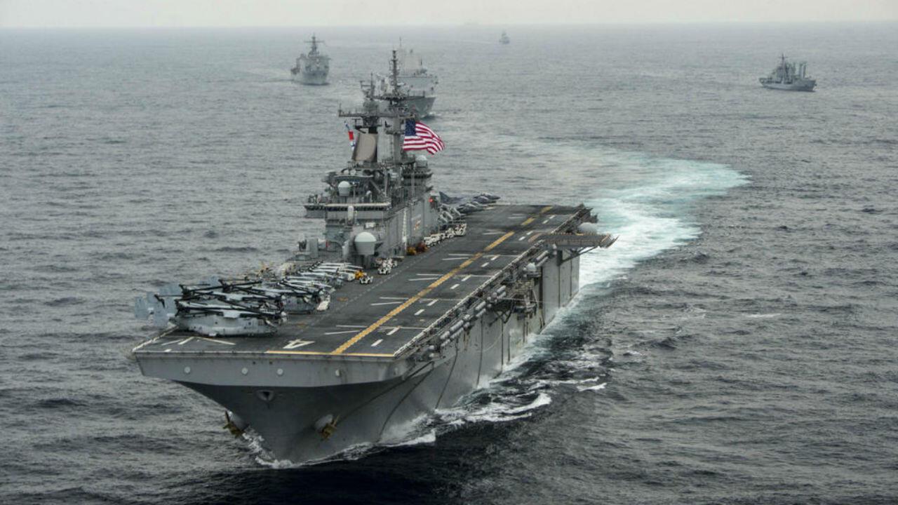 El USS Boxer en marzo de 2016.