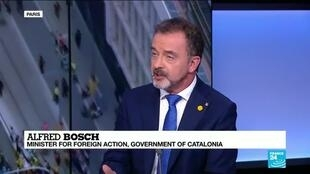 """2019-10-18 14:32 Catalonia's Foreign Action minister, Alfred Bosch on France 24: """"The sentence is completely political"""""""