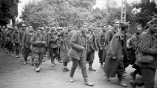 Des soldats français faits prisonniers en mai 1940.