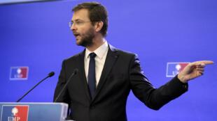 Jérôme Lavrilleux lors d'une conférence de presse au siège de l'UMP, le 22 novembre 2012