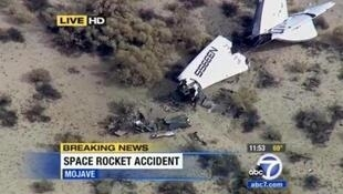 An image courtesy of KABC News in Los Angeles shows the wreckage of the vessel.