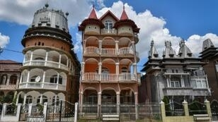 """Thousands of elaborate """"Roma palaces"""", built by affluent members of the Roma minority, dot the Romanian countryside"""