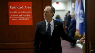 Le chef de la minorité démocrate à la commission du Renseignement de la Chambre des représentants, Adam Schiff, lundi 5 février 2018, à Washington.